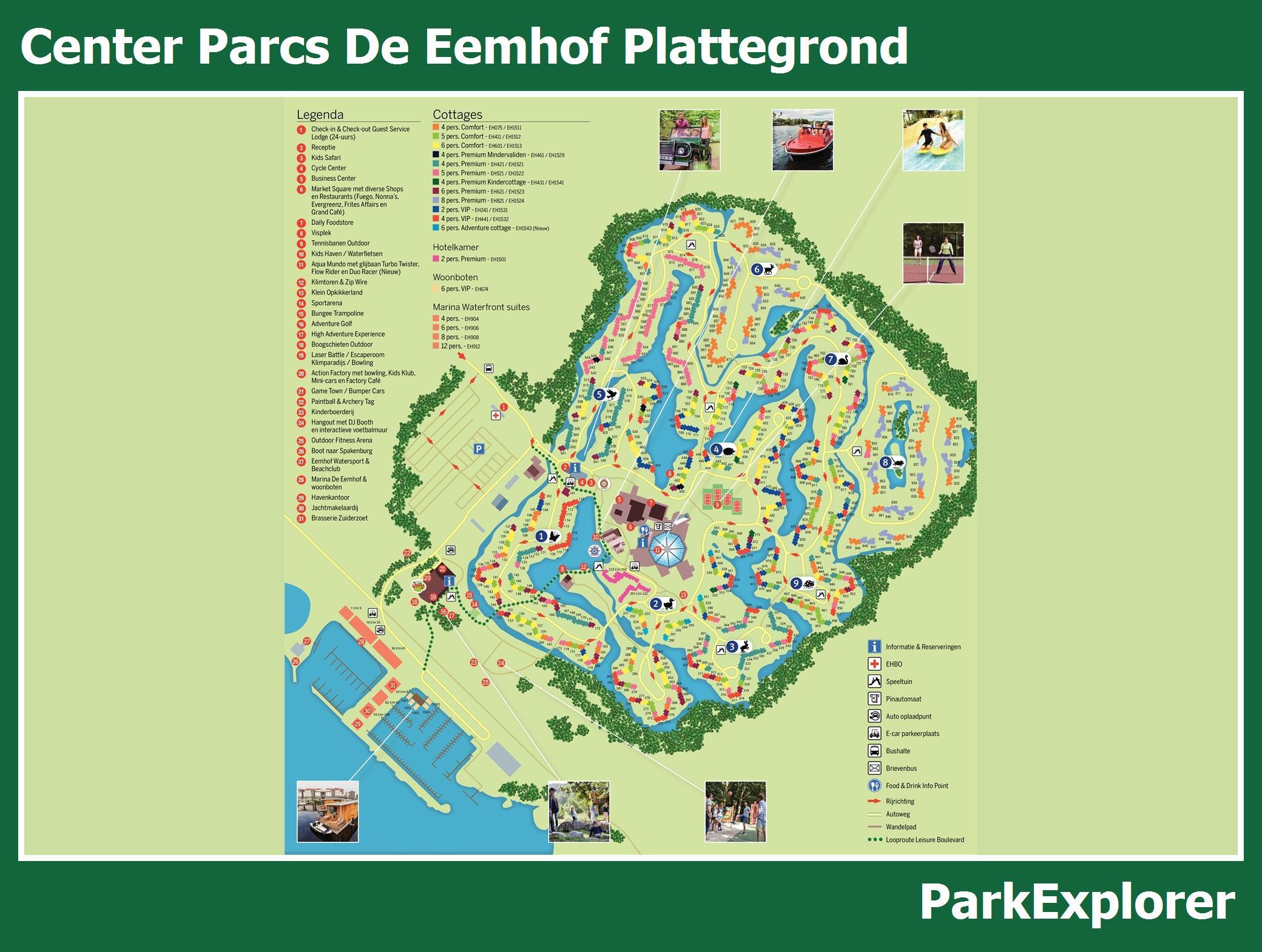 Center Parcs De Eemhof Plattegrond.Px Park Plattegrond Van Center Parcs De Eemhof Parkexplorer Nl