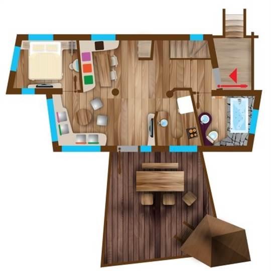 nl boomhuis eden bd401 in center parcs le bois aux daims. Black Bedroom Furniture Sets. Home Design Ideas