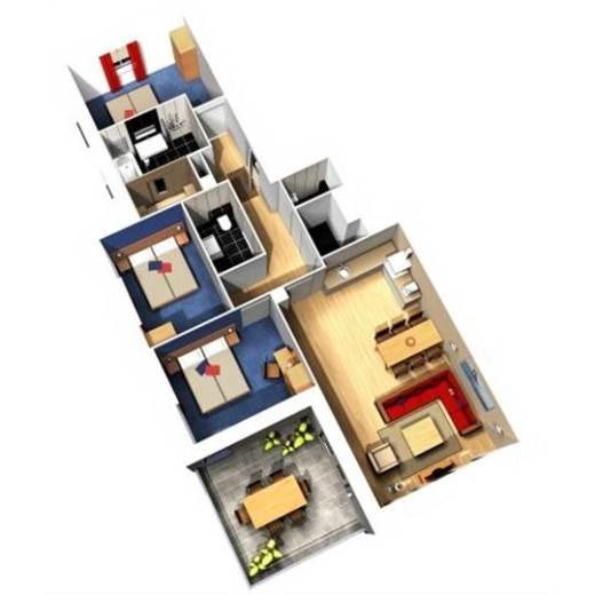 Nl waterfront suite eh906 in center parcs de eemhof - Plan ouderslaapkamer met badkamer en kleedkamer ...