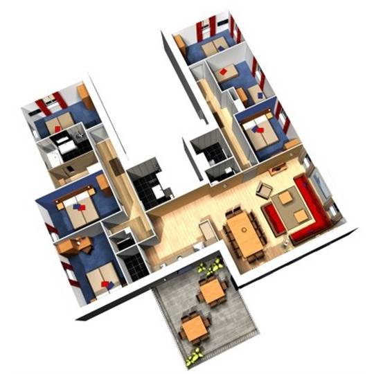 Nl waterfront suite eh912 in center parcs de eemhof - Plan ouderslaapkamer met badkamer en kleedkamer ...